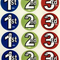 Sticker 1st, 2nd, 3rd