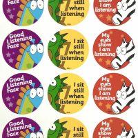 Sticker listening animals