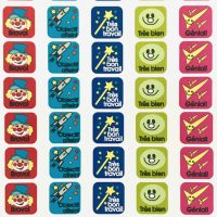 Stickers French squares