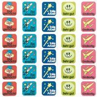 Stickers German squares