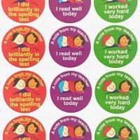 Stickers spelling, reading etc