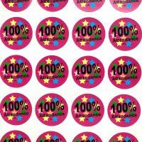 Sticker 100% attendance