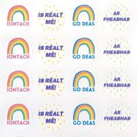 Irish sticker rainbow realt